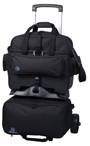 Ebonite Transport 2 Roller Bowling Bag Black
