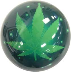 OnTheBall Sparkle Marijuana Leaf (Exclusive-Special Order)